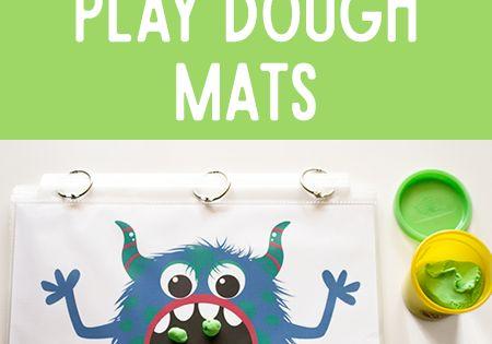 Monster Play Dough Math Mats Play Dough Monsters And Plays
