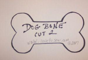 Dog Bone Pillow Pattern Free First Find Or Draw A Dog Bone