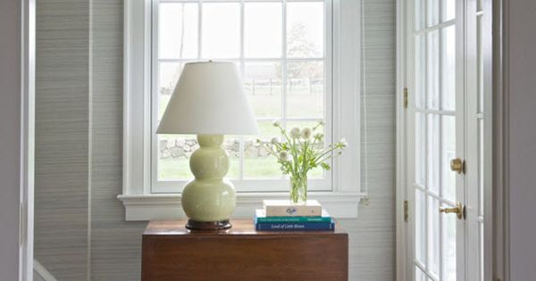 Blinds For Large Foyer Window : Elegant entryway with roman shade kerry hanson design