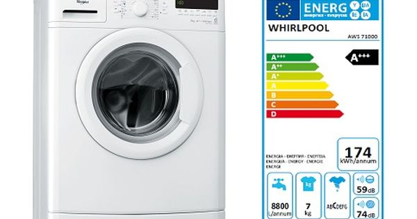 Masina De Spalat Rufe Slim Whirlpool Aws 71000 6th Sense Colours 7 Kg 1000 Rpm Clasa A Masina De Spalat Washing Machine Laundry Machine Home Appliances