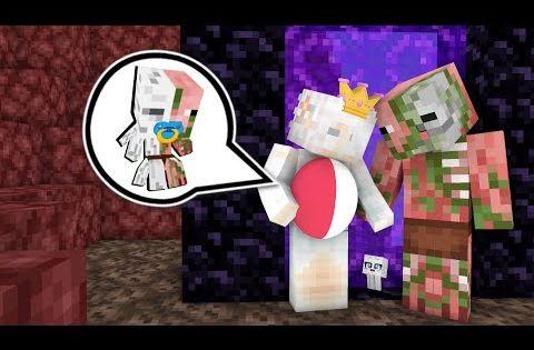 Monster School Ghast Princess Zombie Pigman Baby Life Minecraft Animation Youtube