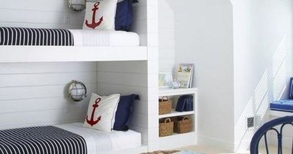 Habitaci n marinera bedrooms dormitorios pinterest for Cuartos para ninas literas