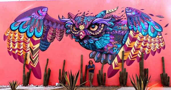 Farid rueda with his work in mexico 2 15 lp murales for Arte mural en mexico
