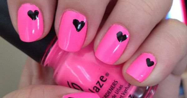 Paint your nails with a neon color (or any color you'd like)