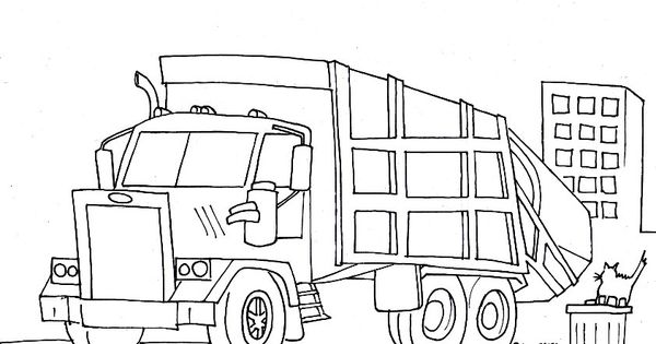 garbage truck coloring pages free