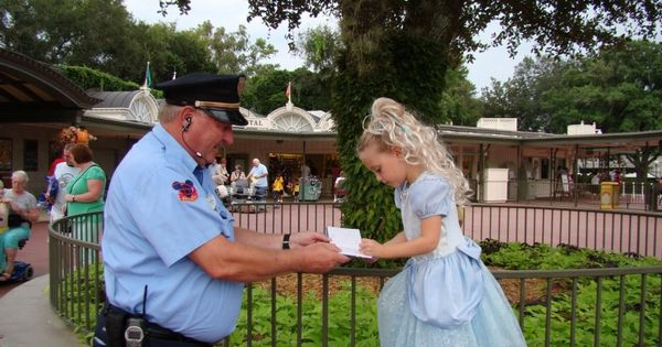 Faith in humanity restored. Disney World Security Guard Asks Little Princess For