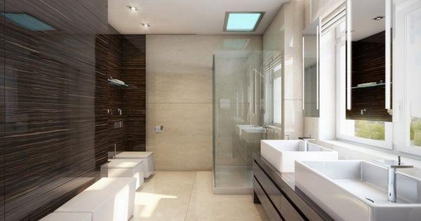 Bad ohne fliesen glaspaneele holzoptik dunkel wohnideen - Badezimmergestaltung ohne fliesen ...