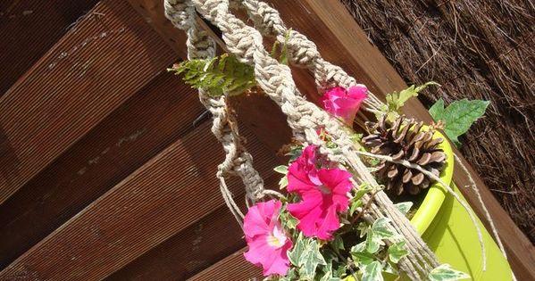 tutoriel macram porte pot de fleurs femme2decotv plantes pinterest pots. Black Bedroom Furniture Sets. Home Design Ideas