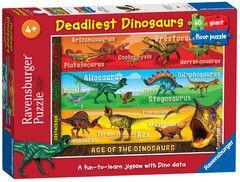 Deadliest Dinosaurs Giant Floor Puzzle 60pc Children S Puzzles Puzzles Products Uk Ravensburger Com Giant Floor Puzzle Ravensburger Floor Puzzle