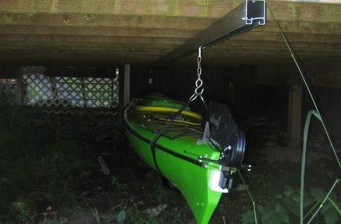 Kayak Dock Rack >> Kayak storage idea | STORAGE | Pinterest | The cottage, Decks and Storage sheds