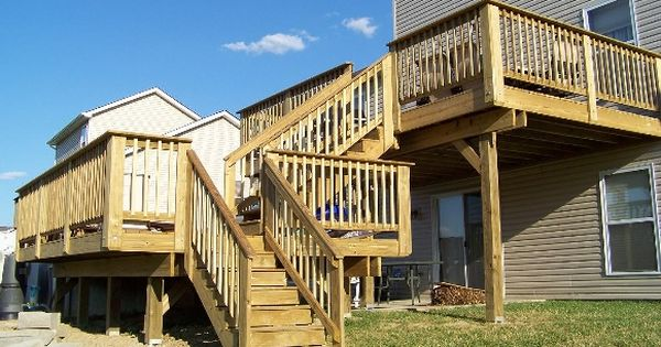 Two Tier Decks Decking New Construction Cleaning