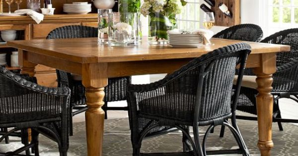 Pottery Barn Dining Table Decor: Sumner Square Fixed Dining Table