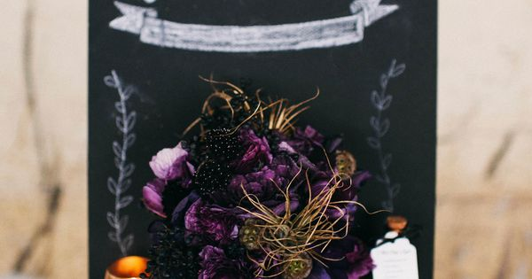 dark purples & chalk board