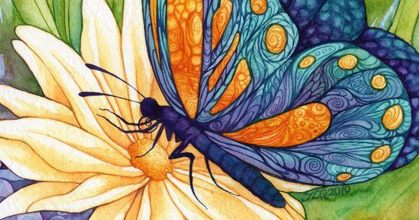 Jlgribble On Deviantart The Butterfly Princess Peinture D Corative Pinterest Papillon