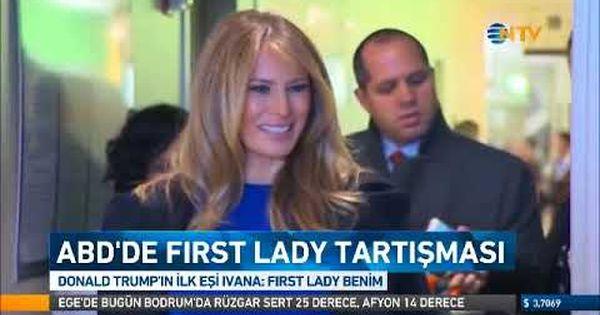 Amerika Da First Lady Tartismasi Trump Un Ilk Esi Ivana First Lady Benim First Ladies Devlet Baskani Haber