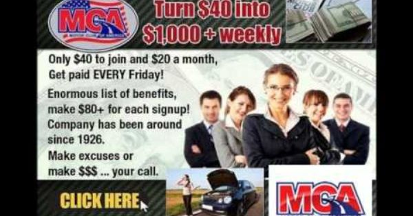 Mca Motor Club Of America Copy Paste Post Get Paid Every
