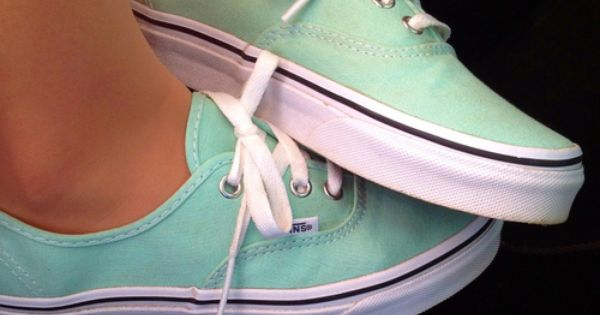 #fashion shoes mint green vans