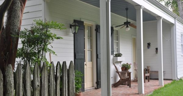 Acadian Cottage Courtyards And Exterior French Doors With