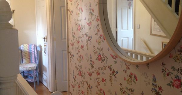 My hallway with gorgeous cath kidston wallpaper the year for Cath kidston style bedroom ideas