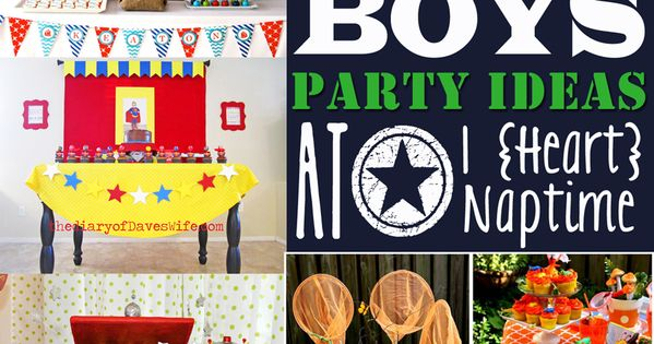 50 Awesome Boys' Party Ideas! So many GREAT ideas! kids parties. Also