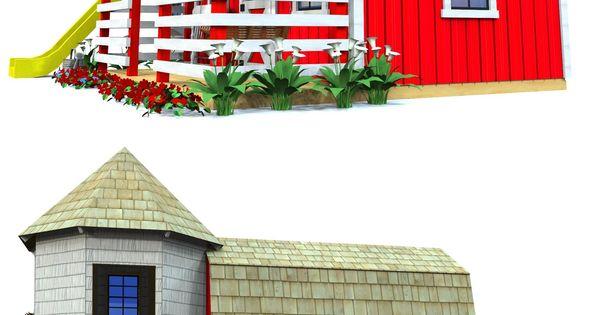Barn silo playhouse plan red barns playhouses and for Barn and silo playhouse