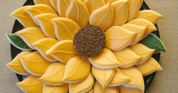 sunflower platter | Cookie Connection | Floral / Tree ...