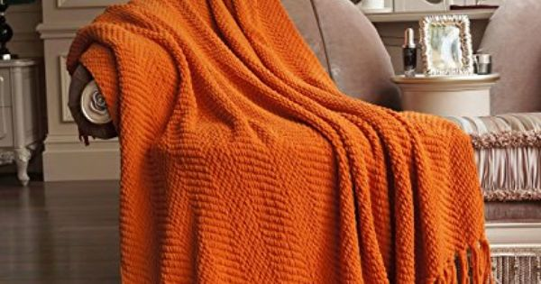 Bnf Home Throw Knitted Tweed Throw Couch Cover Throw