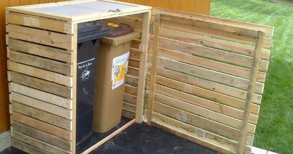 cache poubelles deco ext rieur pinterest poubelle palette et id es pour le jardin. Black Bedroom Furniture Sets. Home Design Ideas