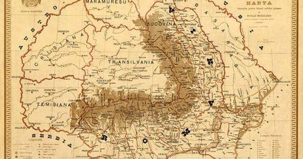 Old Map Of Romania Harta Veche Romania Fine Print Romania
