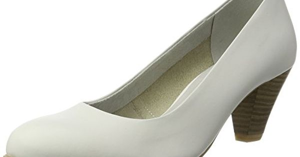 Tamaris Damen 22400 Pumps, Weiß (White 100), 38 E | Closed