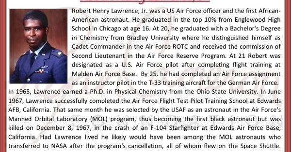 RCF's Black History Fact 6 In 1967, chemist and scholar