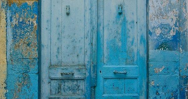 Blue rustic door