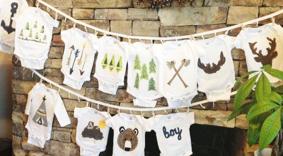 diy stenciled onesies (16) - Amy Wilson casteel! Check out the southwest