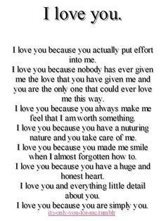Nice I Love You Because Best Quotes Love Romantic Quotes Inspirational Quotes Missing Quotes
