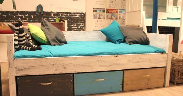 Bedbank jorn heerlijk slapen in je eigen bed bakken voor speelgoed of andere zaken welke - Kleur kinderen slaapkamer ...