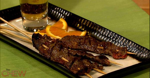 Michael Symons Steak on a Stick recipe. thechew