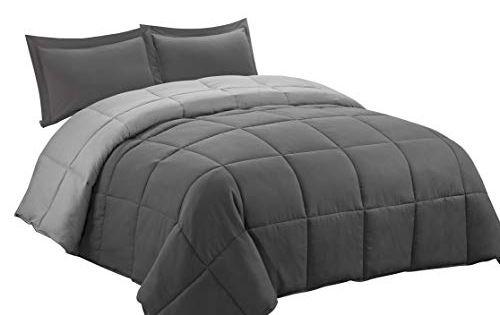 Kasentex Quilted Comforter Set Goose Down Alternative Microfiber