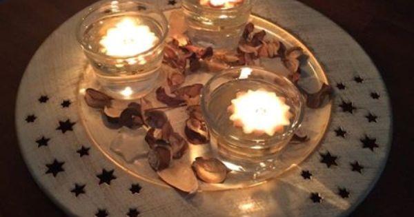Weihnachts kerzen dekoration mit der erfurter feuerblume for Kerzen dekoration