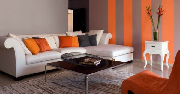 Living Room Decor Combine Stripes In Any Following 2 Colour Combinations 1 Rich Tan 7965 Living Room Wall Color Living Room Color Schemes Living Room Colors