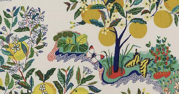 Schumacher Citrus Garden Pool Fabric Gardens Color