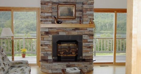 Chimenea de piedra dise o y decoraci n pinterest - Chimenea de decoracion ...