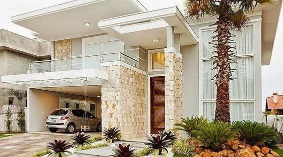 Top 10 Fachadas De Casas Modernas Com Paisagismo E Muros Facade House House Exterior Architecture House