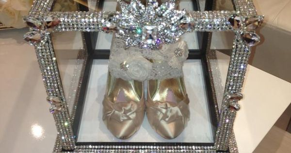 Crystallized bling shoe box for wedding shoes call 818-817 ...