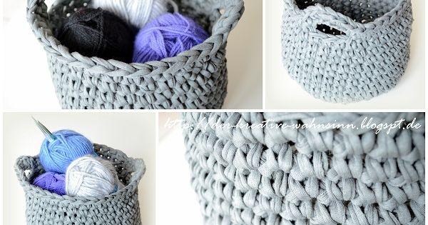 anleitung korb mit henkel h keln h keln pinterest crochet. Black Bedroom Furniture Sets. Home Design Ideas