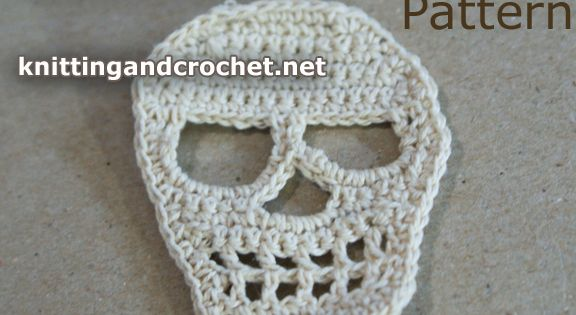 Crochet Skull Pattern -- Use as an Applique or Patch ...