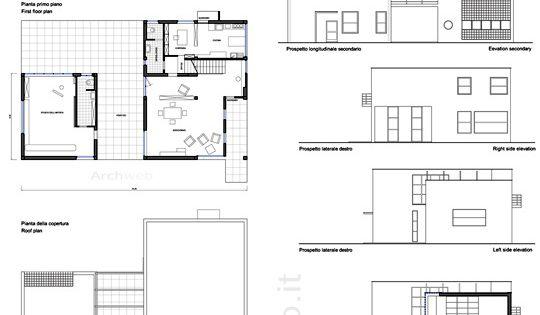 Casa sul lago per un artista disegni dwg progetti da for Disegni casa sul lago