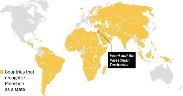 Map The Countries That Recognize Palestine As A State Palestine