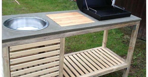 Diy idea make your own portable outdoor kitchen utek k for Build my own outdoor kitchen