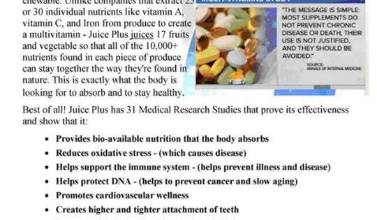 whole food based nutrition vs. vitamin supplement - http ...