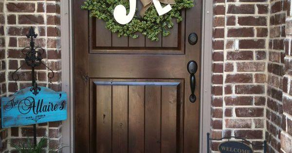 Cute Front Porch Decor Home Ideas Pinterest Wreaths Doors And Front Doors